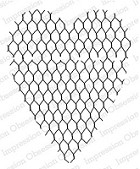 Impression Obsession - Cling Stamp by Alesa Baker - Chicken Wire Heart
