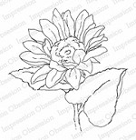 Impression Obsession - Cling Mounted Rubber Stamp - By Alesa Baker - Sunny Sunflower