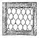 Impression Obsession - Cling Stamp - by Alesa Baker - Chicken Wire Frame