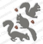 Impression Obsession - Die - Squirrel Set