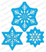 Impression Obsession - Die - Snowflakes Cutout