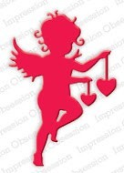 Impression Obsession - Die - Cupid with Hearts