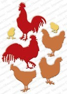 Impression Obsession - Die - Roosters & Chickens