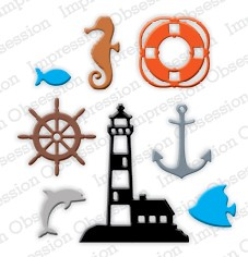 Impression Obsession - Die - Mini Nautical (set of 8 dies)