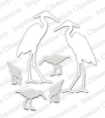 Impression Obsession - Die - Shore Birds (set of 6 dies)