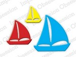 Impression Obsession - Die - Sailboats (set of 3 dies)