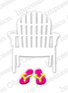 Impression Obsession - Die - Single Beach Chair (set of 5 dies)
