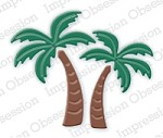 Impression Obsession - Die - Palm Trees (set of 4 dies)