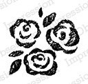 Impression Obsession - Cling Mounted Rubber Stamp - By Alesa Baker - Chalk Rose Trio