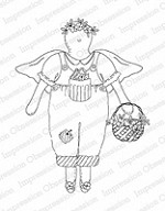Impression Obsession - Cling Mounted Rubber Stamp - By Alesa Baker - Gardening Guardian Angel