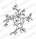 Impression Obsession - Cling Mounted Rubber Stamp - By Alesa Baker - Sweet Floral Blossom