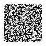 Impression Obsession - Cling Mounted Rubber Stamp - Cover A Card - Mod Floral