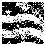 Impression Obsession - Cling Mounted Rubber Stamp - Cover A Card - Grunge Flag