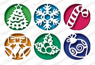 Image result for impression obsession christmas circle cutouts