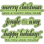 Inkadinkado - Cling Stamps - Mini Holiday Greeting