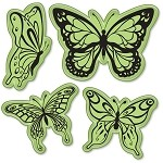 Inkadinkado  - InkaClings - Butterflies Cling Mounted Stamp Set