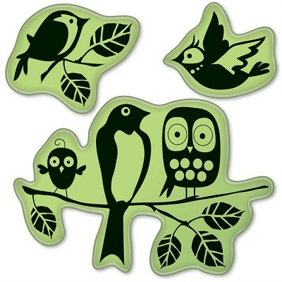 Inkadinkado-Cling Stamps-Fun Birds