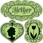 Inkadinkado-Cling Stamps- Vintage Mother's Day