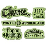 Inkadinkado-Cling Stamp-Holiday Expressions