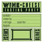 Inkadinkado-Cling Stamp-Wine & Cheese Party