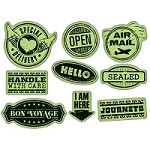 Inkadinkado-Cling Stamps- Delivery Labels