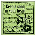 Inkadinkado - Cling Stamp - Keep Song In Heart