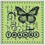 Inkadinkado - Cling Stamp - Thanks