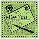 Inkadinkado - Cling Stamp - Miss You