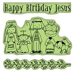 Inkadinkado - Cling Stamps - Happy Birthday Jesus