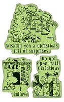 Inkadinkado - Cling Stamps - Christmas Surprise