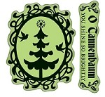 Inkadinkado - Cling Stamps - Christmas Tree Cameo