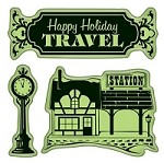 Inkadinkado - Cling Stamps - Village Station Mini