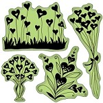 Inkadinkado - Cling Stamp - Heart Shape Flowers