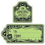 Inkadinkado - Cling Stamp - To and From Tags