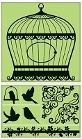 Inkadinkado - Cling Stamps - Bird Cage