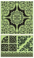Inkadinkado - Cling Stamps - Ornamental Tile