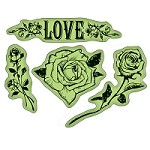 Inkadinkado - rubber stamps - The Flowers N Hearts Cling