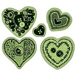 Inkadinkado - rubber stamps - Sewing Hearts Cling