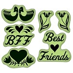 Inkadinkado - rubber stamps - Folk Best Friends cling