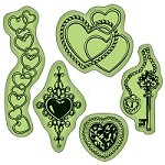 Inkadinkado - rubber stamps - The Jewelry and Hearts Cling