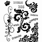 Inque Boutique - See D's  Unmounted Rubber Stamp Set  - Ornaments