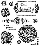 Inque Boutique - See D's  Unmounted Rubber Stamp Set  - Arabesque
