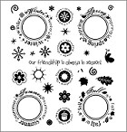 Inque Boutique - See D's  Unmounted Rubber Stamp Set by Stephani Barnard - Always in Season