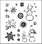 Inque Boutique - See D's  Unmounted Rubber Stamp Set by Stephani Barnard - Let it snow