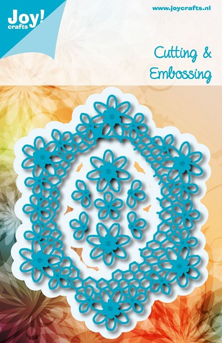 Joy Crafts - Cutting Die - Noor! Oval with Flowers