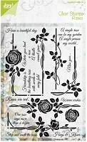 Joy Crafts - Clear Stamps - Roses Have A Beautiful Day