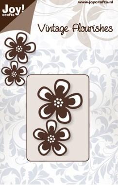 Joy crafts cutting die vintage flourishes flowers for Joy craft flower dies