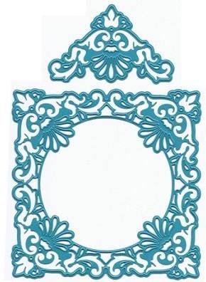 Joy crafts cutting die ornate square frame delicate for Joy craft flower dies