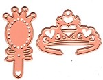 Joy Crafts - Noor! Cutting & Embossing Die - Little Princess tiara and hand mirror