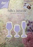 Joy Crafts - Bille's Invitation Cutting & Embossing Die - 3 Glasses